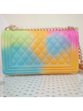 Hot Sale Gradient Color Rhombus Bag With Chain