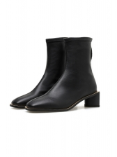 Solid Square Toe Thick High Heel Winter Boots