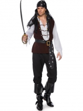 Halloween Cosplay Pirate Outfits Costume For Men