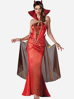 Halloween Devil Queen Maxi Dress